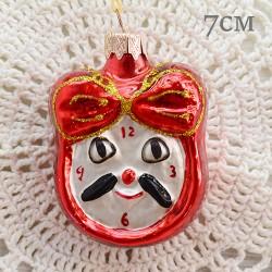 """Елочная игрушка """"Часы - будильник. Красный"""", арт. 1444. ID1976"""