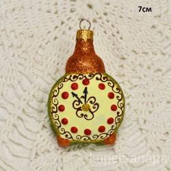 """Елочная игрушка """"Часы будильник"""", арт. 1447 ID4211"""