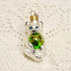 """Елочная игрушка """"Медведь с мячом"""" зеленый, арт. 1447 ID3665"""
