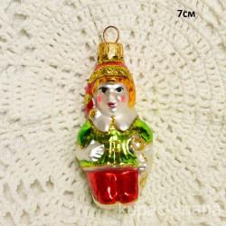 "Елочная игрушка ""Буратино"" красно/зеленый, арт. 1447 ID4183"