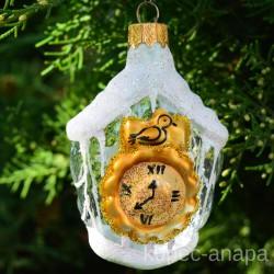 """Елочная игрушка """"Часы"""" прозрачные арт. 1447 ID4257"""