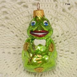 "Елочная игрушка ""Царевна Лягушка"" зеленый, арт. 1447 ID4290"