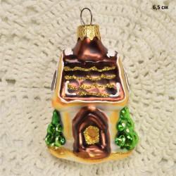 """Елочная игрушка """"Домик"""" коричн. крыша, арт. 1447 ID4291"""