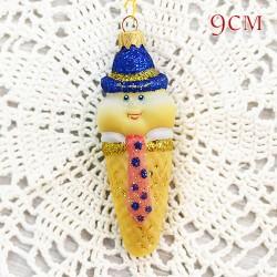 """Елочная игрушка """"Мороженое рожок. Мальчик в синей шляпе"""", арт. 1447. ID2021"""