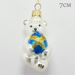"Елочная игрушка ""Белый медведь"", арт. 1447. ID2006"