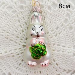 """Елочная игрушка """"Заяц с капустой"""", арт. 1444. ID2047"""