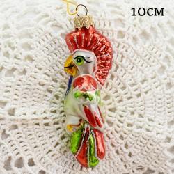 """Елочная игрушка """"Попугай с хохолком красный"""", арт. 1447. ID2038"""