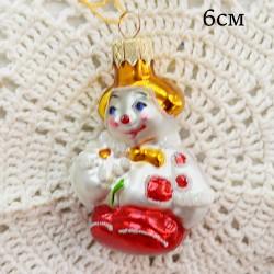 """Елочная игрушка """"Клоун с ромашкой"""", арт. 1447. ID2031"""