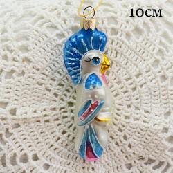 """Елочная игрушка """"Попугай с хохолком синий"""", арт. 1447. ID2039"""