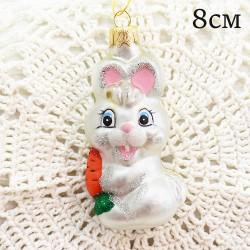 """Елочная игрушка """"Заяц с морковкой"""", арт. 1447. ID2048"""