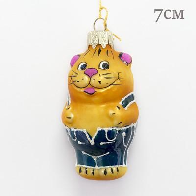 """Елочная игрушка """"Кот в джинсах из попугая Кеши"""", арт. 1447. ID2009"""