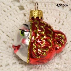 """Елочная игрушка """"Рыба"""" красная арт. 1448 ID4268"""