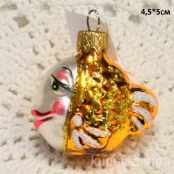 "Елочная игрушка ""Рыба"" золотая арт. 1448 ID4269"