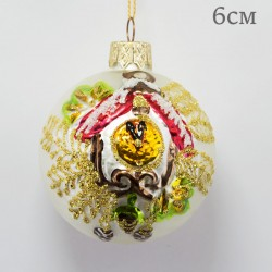 "Елочная игрушка шар ""Часы"" 5,5см., арт.5897 ID1930"