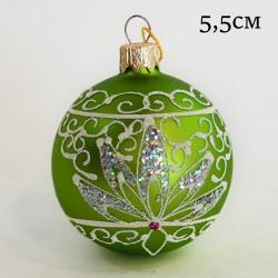 "Елочная игрушка шар ""Зеленый цветок"" 5,5см.,арт.1455  ID11935"