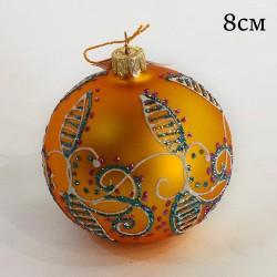 """Елочная игрушка шар """"Цвет золотой. Узор"""" 7,5см., арт. 5799 ID1955"""