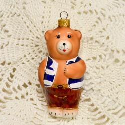 """Елочная игрушка """"Медведь"""" синий арт. 1464 ID4221"""