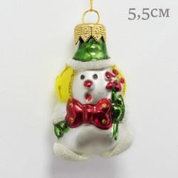 """Елочная игрушка """"Клоун с ромашкой"""" зеленый, арт. 1469 ID2120"""