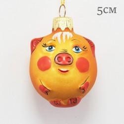 "Елочная игрушка ""Свинка колобок"", арт. 1469 ID2119"