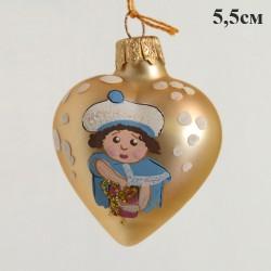 "Елочная игрушка ""Сердечко золотистое"", арт. 1469 ID2111"