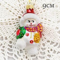 "Елочная игрушка ""Снеговик в розовом шарфе"", арт. 1447 ID2094"