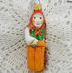 "Елочная игрушка ""Баба Яга в ступе"" желтая, арт. 1438 ID3639"