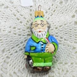 """Елочная игрушка """"Айболит"""" в зеленом, арт. 1438 ID3654"""