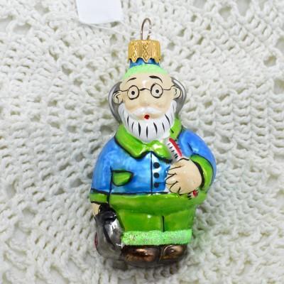 """Елочная игрушка """"Айболит"""" в зеленом, арт. 1447 ID3654"""