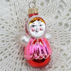 """Елочная игрушка """"Матрешка"""" розовая, арт. 1447 ID3662"""