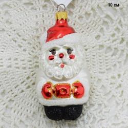 "Елочная игрушка ""Дед мороз в белой шубе"", арт. 5855 ID3668"