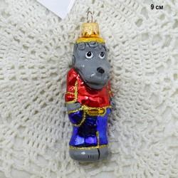 """Елочная игрушка """"Волк Ну Погоди"""" серый, арт. 1447 ID3673"""