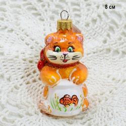"""Елочная игрушка """"Кот и аквариум"""", арт. 1447 ID3687"""