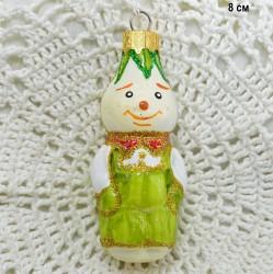 "Елочная игрушка ""Чиполлино"" св. зел. 7,5см., арт. 5720 ID3782"