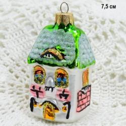 "Елочная игрушка ""Домик коттедж"", арт. 1447 ID3847"