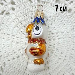 """Елочная игрушка """"Попугай Кеша"""" белый арт. 1447 ID4306"""