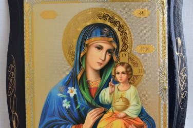 Икона на дереве Икона Божией Матери «Неувядаемый Цвет» 22х17см., арт. 4797