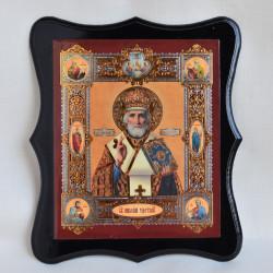"Икона на дереве ""Св. Николай Чудотворец» 22,5х19,5см., арт. 4799"