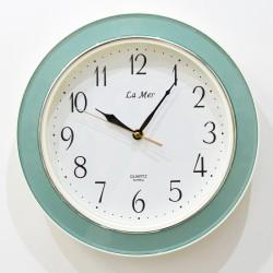 Часы настенные, цвет бирюза с перламутром, ID 3312