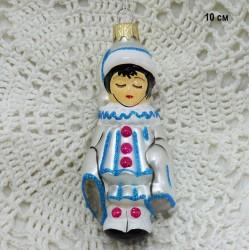 "Елочная игрушка ""Пьеро из сказки Буратино"", арт. 1470 ID3704"