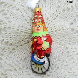 """Елочная игрушка """"Клоун на колесе"""", арт. 1470 ID3695"""