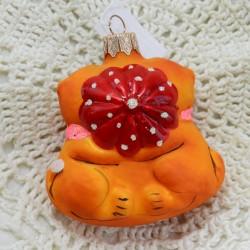 """Елочная игрушка """"Котики с сердцем"""" 7см. арт.5867 ID3697"""