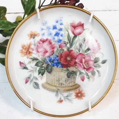 """Декоративная тарелка 6шт. """"Цветочная корзина"""", арт. 1694"""