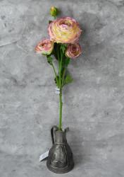"Цветок искусственный ветка ""Камелия"" фуксия 63 см, арт. 5057/3"