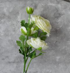 """Цветок искусственный ветка """"Камелия"""" белая 63 см, арт. 5057/1"""
