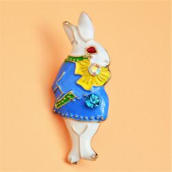 """Брошь """"Кролик"""" Алиса в стране чудес арт. 6003/1597"""