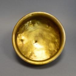 Латунный никелированный капельник, полоскательница для самовара, арт. 1721/2