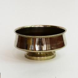 Латунный никелированный капельник, полоскательница для самовара, арт. 1721/113