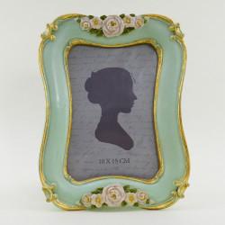 """Фоторамка """"Розы"""" цвет мята/золото, фото 10*15, арт. 1776"""