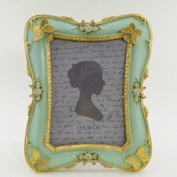 """Фоторамка """"Бабочки"""" цвет мята/золото, фото 13*18, арт. 1778"""