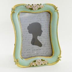 """Фоторамка """"Розы"""" цвет мята/золото, фото 13*18, арт. 1779"""